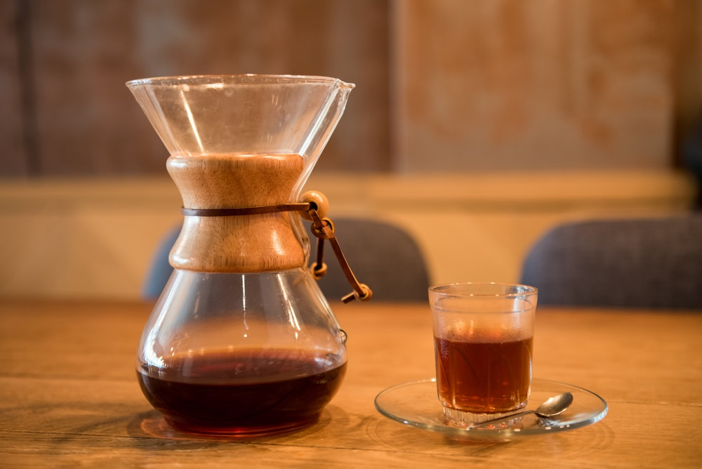 Put your decaf coffee into a carafe