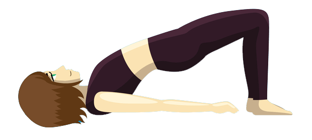 Image result for Bridge pose cartoon
